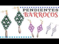 Como hacer unos Pendientes Diamond con cuentas DiamonDuo - Tutorial con plantilla - YouTube