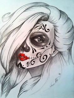 Girl in deathmask
