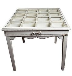 Boudoir Display Table with Drawers