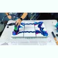 Acrylic Painting Techniques, Drip Painting, Acrylic Pouring Art, Acrylic Art, Canvas Art Projects, Canvas Wall Art, Cuadros Diy, Diy Resin Art, Mixed Media Canvas