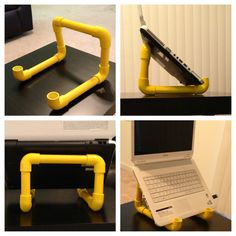 Durable Portable Foldable Notebook Laptop Desk Table Stand Bed Tray W/Cup Pad Pvc Pipe Crafts, Pvc Pipe Projects, Portable Laptop Desk, Laptop Table, Diy Laptop Stand, Diy Vanity Mirror, Sound Room, Tv Decor, Diy Entertainment Center
