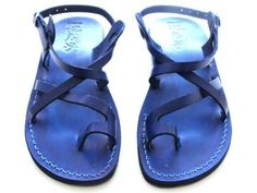 SALE ! Leather Sandals JERUSALEM Men's Shoes Jesus Jerusalem Strappy Flip Flops Flats Slides Slippers Biblical Colored Footwear Fisherman by Sandalimshop on Etsy