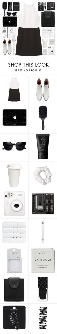 """""""two-tone"""" by rosemarykate ❤ liked on Polyvore featuring MANGO, Zara, Denman, ZeroUV, NARS Cosmetics, Beats by Dr. Dre, American Apparel, Fuji, Christy and shu uemura"""