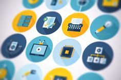 Check out Flat business icons set by painterr on Creative Market