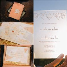 Geometric wedding theme- Lucite invitations  Smog Shoppe