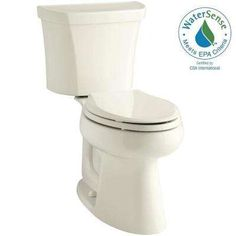 Highline 2-piece 1.28 GPF Single Flush Elongated Toilet in Biscuit