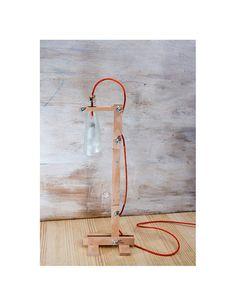 Lámpara escritorio botella reciclada lámpara de por EunaDesigns