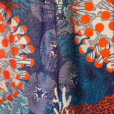 Marimekko Unveils Sea-Inspired Collection by Allie Weiss Textile Fabrics, Textile Patterns, Print Patterns, Textile Art, Color Patterns, Design Textile, Fabric Design, Pattern Design, Surface Design
