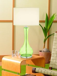 Appletini Green Glass Table Lamp - - Amazon.com