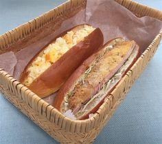 玉子サンドウィッチ(Dマスタード)、カツサンドドウィッチ(辛子、カツの裏にソース))