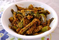 Tea and Bake House: Long Green Brinjals curry - South Indian Style