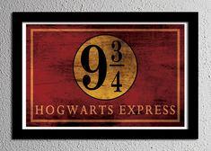 Harry Potter Hogwarts Express Platform 9 3/4 Sign Typography Minimalist Poster 13x19 on Etsy, $20.00