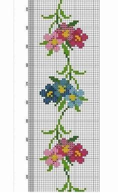 Cross Stitch Bookmarks, Cross Stitch Borders, Cross Stitch Flowers, Cross Stitch Embroidery, Cross Stitch Patterns, Weaving Patterns, Loom Beading, Needlepoint, Needlework