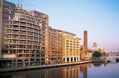 Modern Riverfront Buildings at Bankside, London