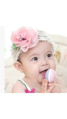 e25e00996594 Buy White Elastic Baby Pink Flower HeadBand online. Baby Hair  AccessoriesBaby Girl HeadbandsFloral HeadbandsToddler ...