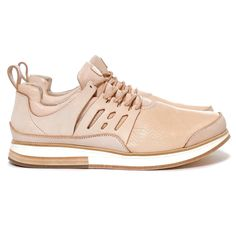 """The Manual Industrial Products 12 is created as part of Hender Scheme's """"Hommage"""" footwear collection. As the name implies, the shoes are hand-made versions of their famed industrially produced counterparts. Shoes Sandals, Shoes Sneakers, Dress Shoes, Tennis Photography, Tennis Gifts, Custom Sneakers, Designer Shoes, Sneakers Fashion, Leather Shoes"""