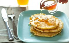 Fluffy Cottage Cheese Pancakes - Kids (and we!) loved these!  Added cinnamon and vanilla and subbed coconut oil.  Freeze well.