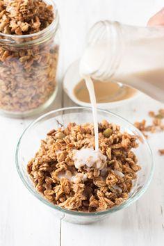 Coconut Maple Tahini Granola: 19 Tahini Dessert Recipes to Satisfy Your Sweet Tooth via Brit + Co