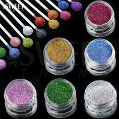 1 x 3g Jar Shiny Laser Holographic Nail Glitter Dust Powder for Nail Art DIY UV Gel Polish Nail Tip Decor Glitter Craft LAL01-16  Price: 0.53 USD