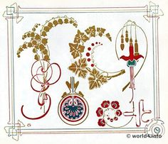 art nouveau lily of the valley - Google Search
