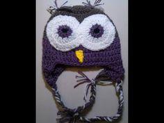 Crochet Owl Beanie   -  Part  1 of 2