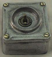 NEW Cast Metal Vintage Industrial 1 Gang Light Switch - BS EN Approved