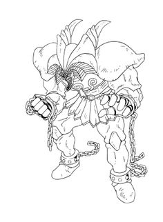 exodia the forbidden one yu gi oh coloring pages