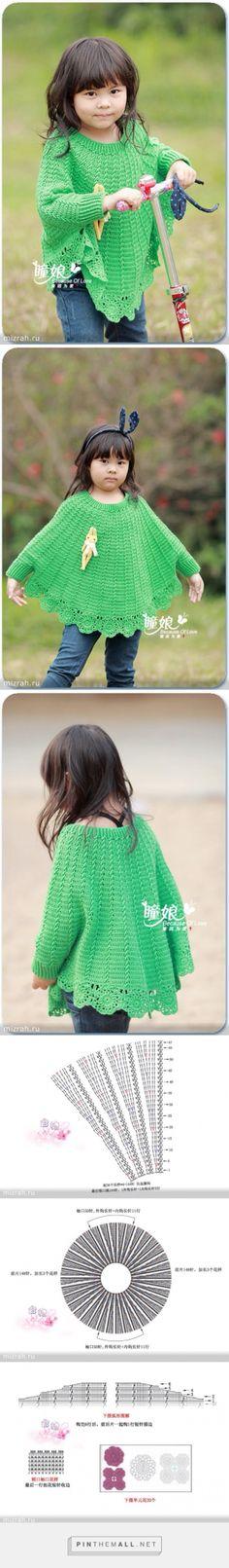 Crochet kid poncho