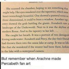 When Arachne made percabeth fan art/// PERCABETH FANART LOL EVERYONE SHIPS PERCABETH EVEN THEIR ENEMIES
