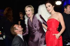 Pin for Later: 24 Brilliant Backstage People's Choice Awards Moments Josh Holloway and Abigail Spencer were blessed by a winged Jane Lynch. Pictured: Josh Holloway, Jane Lynch, and Abigail Spencer