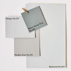 Architectural Neutrals :: via Farrow & Ball (pavillion grey no Farrow Ball, Farrow And Ball Paint, Wall Colors, House Colors, Paint Colors, Hallway Colours, Neutral Color Scheme, Colour Schemes, Colour Palettes