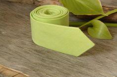 Lime Tie /Men's skinny Pastel Lime Green Tie / by TheBestBoysTies