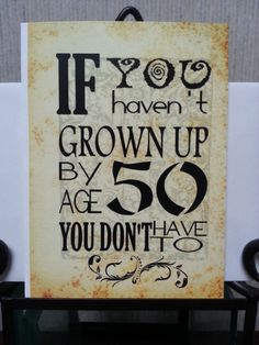 Birthday Card  Turning 50  50th  Over the Hill  by SoulSpeaks, $3.50