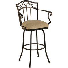 "Callee Berkeley 30"" Swivel Bar Stool Frame Finish: Sun Bronze, Upholstery: Victoria Dark Brown"