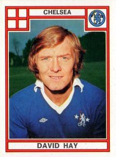 David Hay of Chelsea in David Hay, Coventry City, 1970s, Chelsea, Football, Baseball Cards, Sports, Soccer, Hs Sports