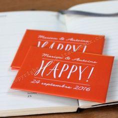 """Le magnet personnalisé """"happy"""""""