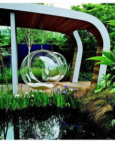 With the rain softly falling on the roof, I'm in a landscape mood today.and I just want to swing! by Diarmuid Gavin. Amazing Architecture, Landscape Architecture, Landscape Design, Garden Design, House Design, Outdoor Spaces, Outdoor Living, Outdoor Decor, Diarmuid Gavin