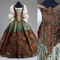 """""""The 6th dress in this weekend's my favorite dresses theme is this fairy tale Hungarian court dress from the 17th century.  Look at all the beading! When I…"""""""