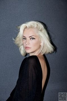 36. #Retro-Inspired Platinum - #Which of These #Three Hottest Hair #Colors for Spring 2015 Will You Try? → Hair #Sleek