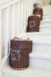 Going Up Staircase basket Riviera Maison Stair Basket, Rivera Maison, Shabby, Elegant Dining Room, Spacious Living Room, French Country Decorating, Decoration, Rattan, Home Accessories