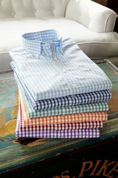 colorful check woven shirts