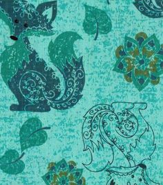 Novelty Cotton Fabric- Fox Green, put this then a nice fuzzy fabric on the bottom