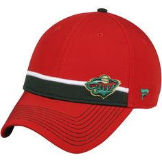 sale retailer 68ddd 0ebb4 Fanatics Branded Minnesota Wild Red Iconic Streak Speed Stretch Fitted Hat  is available now at FansEdge. NHL Caps   Hats
