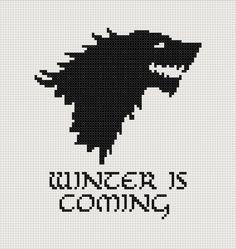 Game of Thrones Stark House sigil counted cross stitch printable PDF pattern. £2.30, via Etsy.