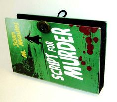 "Book Clutch from ""Script for Murder"" will get attention!  $48.00"