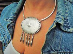 Mandala Bib Necklace Tribal Necklace  Yoga by ebrukjewelry on Etsy