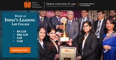 Join #GeetaInstituteofLaw, college awarded by ASSOCHAM! Admission open for session 2016! Visit: www.geetalawcollege.in or call-+91-9729970000 for details.