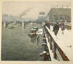 Winter in Paris by Czech Artist Tavik Frantisek-Simon-(1877-1942)