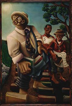 Miss. State—renowned #art collection http://on.thec-l.com/1bbCqdu  via @clarionledger  S.L. Dunson Jr—The Cultivators, 2000