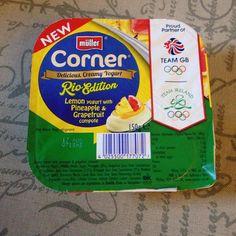 Found another lush new yogurt! Thanks #mullercorner perfect for summer!  #summer #rio2016 #olympics #fresh #yogurt #lemon #grapefruit #pineapple #kcacols #tribalchat #366project #blogger #bloggerslife
